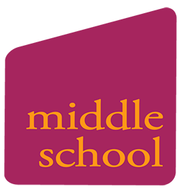 pink shape with middle school