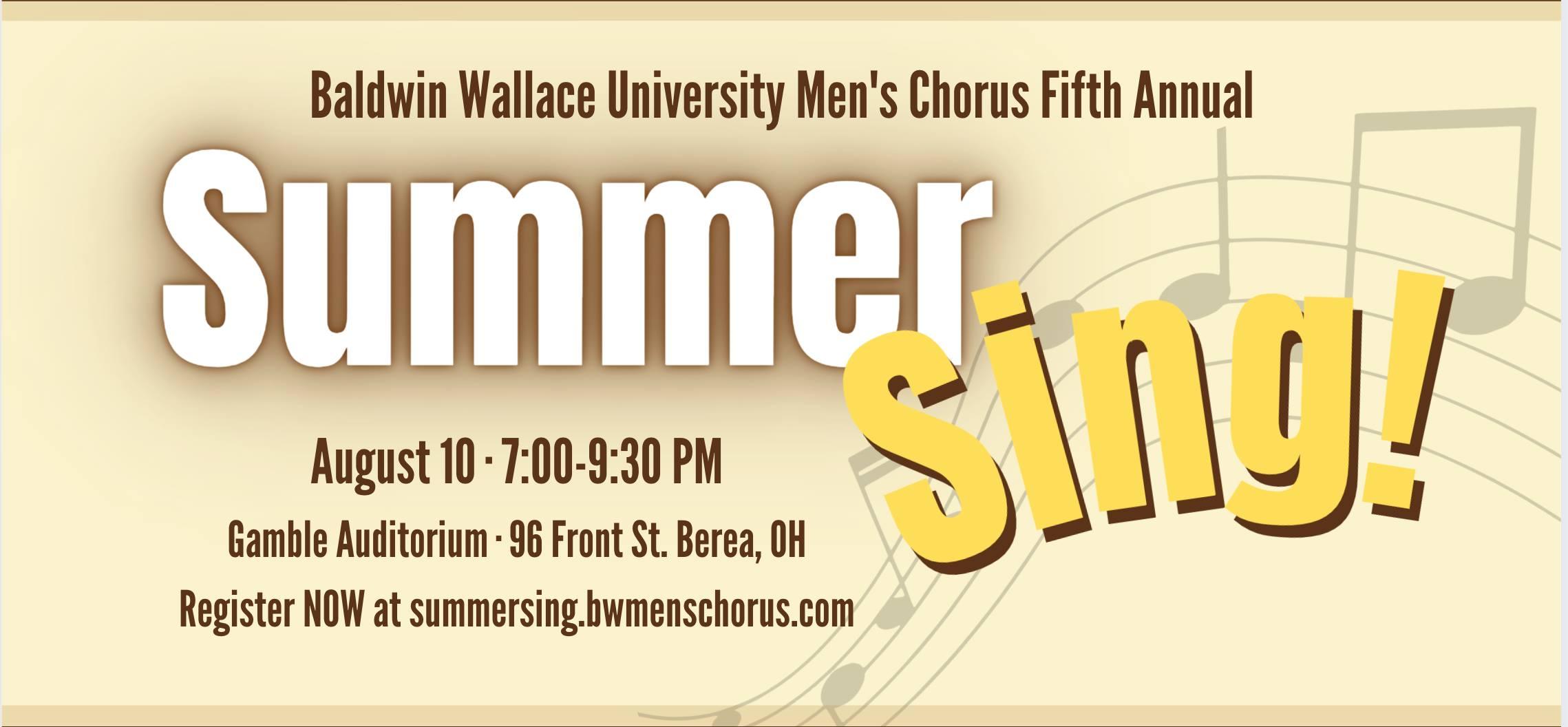 BW Men's Chorus Summer Sing!